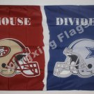 San Francisco 49ers vs. DALLAS COWBOYS House Divided Rivalry Flag