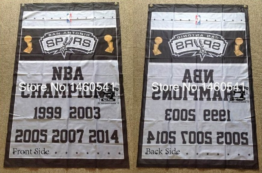 San Antonio Spurs NBA Champions Flag 3ft x 5ft Polyester 90X150cm 2 metal grommets banner