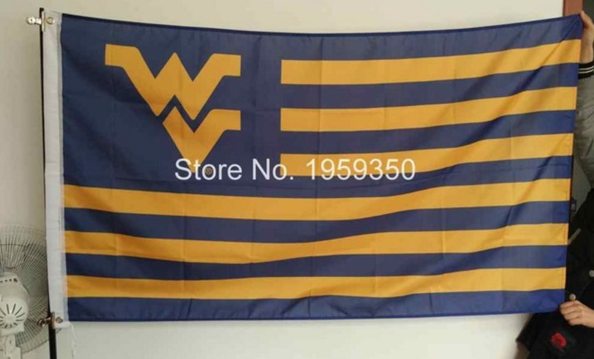 West Virginia Mountaineers stripes Flag 3ft x 5ft Polyester NCAA Banner Flying Custom flag 90x150cm