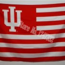 Indiana University Hoosiers with US stripes Flag 3FTx5FT Banner 100D Polyester flag 90x150cm NCAA
