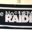 Oakland Raiders Wide Tailgate Banner Flag 8X2FT Custom Flag 110g knitted polyester
