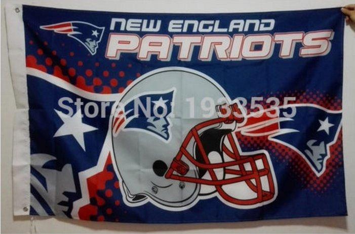 New England Patriots Helmet Flying Flag Banner flag 3ft x 5ft 100D Polyester 90x150cm