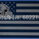 Dallas Cowboys helmet with US stars and stripes Flag 3FTx5FT Banner 100D Polyester flag 90x150cm