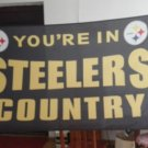 Pittsburgh Steelers you're in country Flag 3ft x 5ft Polyester Banner 90x150cm