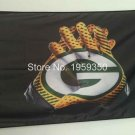 reen Bay Packers 2 Gloves 3x5 ft flag 100D Polyester flag 90x150cm