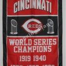 Cincinnati Reds World Series Champions Flag 3ft x 5ft Polyester MLB flag