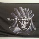 Oakland Raiders Glove 3x5 ft flag 100D Polyester flag 90x150cm