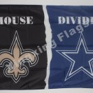 New Orleans Saints vs Dallas Cowboys House Divided Rivalry Flag 90x150cm