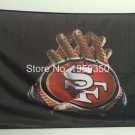 San Francisco 49ers 2 Gloves 3x5 ft flag 100D Polyester flag 90x150cm
