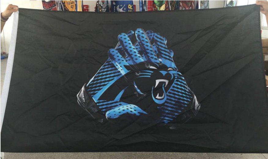 Carolina Panthers Glove 3x5 ft flag 100D Polyester flag 90x150cm