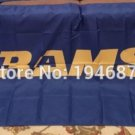 Los Angeles Rams logo car flag 12x18inches double sided 100D Polyester NFL