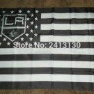 Los Angeles Kings Stripe flag 3ftx5ft Banner 100D Polyester NHL Flag