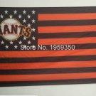 3ftx5ft MLB San Francisco Giants Flag 100D polyester 2 metal grommets