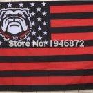 Georgia Bulldogs USA Stripe Star Banner Fan Flag 3X5FTustom NCAA