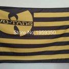 Wu tang wu nation flag flag 3ftx5ft Banner 100D Polyester Flag metal Grommets 90x150cm