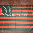Miami Hurricanes FLAG NCAA Flag 3X5FT Custom Flag