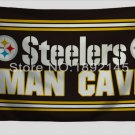 Pittsburgh Steelers Man Cave flag 3FTx5FT Banner 100D Polyester Flag metal Grommets