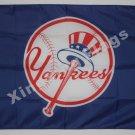 New York Yankees Flag 3ft x 5ft Polyester MLB Bannerflag 90x150cm