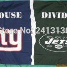 New York Giants vs New York Jets House Divided Rivalry Flag 90x150cm metal grommets