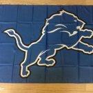 Detroit Lions logo flag 3FTx5FT Banner 100D Polyester Flag 2 metal Grommets