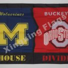 Ohio State Buckeyes Michigan Wolverines House Divided Flag