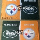 Pittsburgh Steelers vs New York Jets House Divided Rivalry Flag 90x150cm