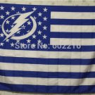 Tampa Bay Lightning logo star and stripes Flag with stripes and logo 3ft x 5ft Polyester fans flags