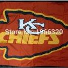 Kansas City Chiefs Flag 3ft x 5ft Polyester Banner flag 2 metal Grommets 90x150cm