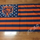 Chicago Bears logo with stars and stripes Flag 3FTx5FT Banner 100D Polyester flag style 1