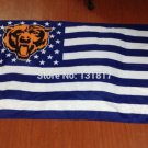 Chicago Bears logo with stars and stripes Flag 3FTx5FT Banner 100D Polyester flag style 2