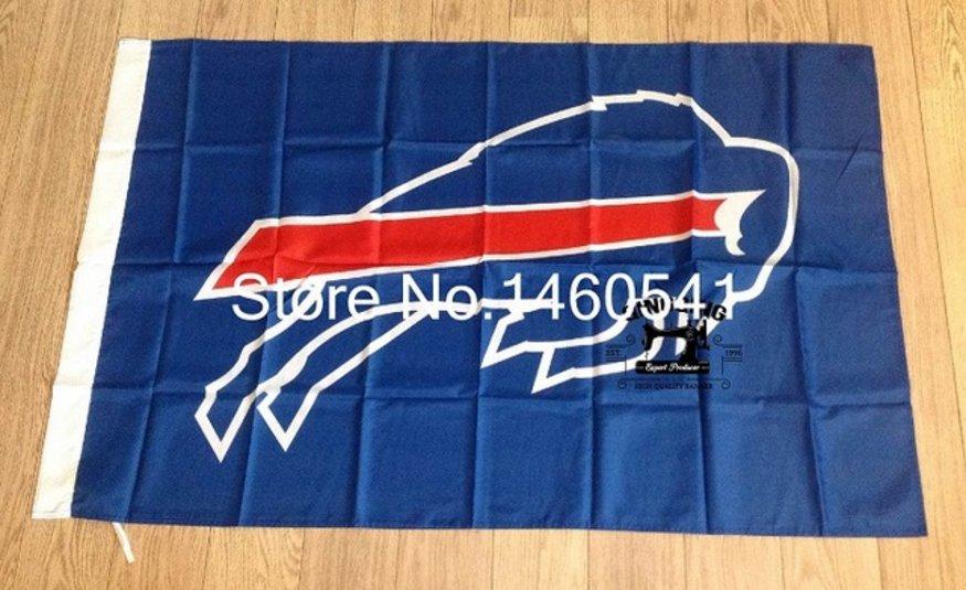 Buffalo Bills Large Outdoor 3 x 5FT 100D polyester Banner Flag 90x150cm