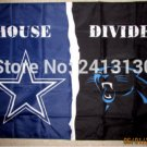 Dallas Cowboys vs Carolina Panthers House Divided Rivalry Flag 90x150cm metal grommets