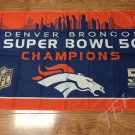 Denver Broncos 50th Super Bowl Champions Flag 3ft x 5ft Polyester flag