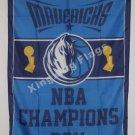 Dallas Mavericks World Champions Flag 3ft x 5ft Polyester NBA flag