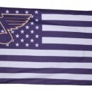 St. Louis Blues logo star and stripes Flag with stripes and logo 3ft x 5ft Polyester fans flags