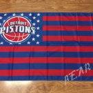 Detroit Pistons starts and stripes Flag 3ft x 5ft Polyester 90x150cm Banner Custom flag