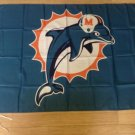 Miami Dolphins flag 3ftx5ft Banner 100D Polyester Flag