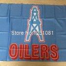 Houston Oilers logo car flag 90*150 cm 3*5 ft double sided 100D Polyester
