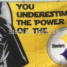 Pittsburgh Steelers star wars flag 3ftx5ft Banner 100D Polyester Flag metal Grommets
