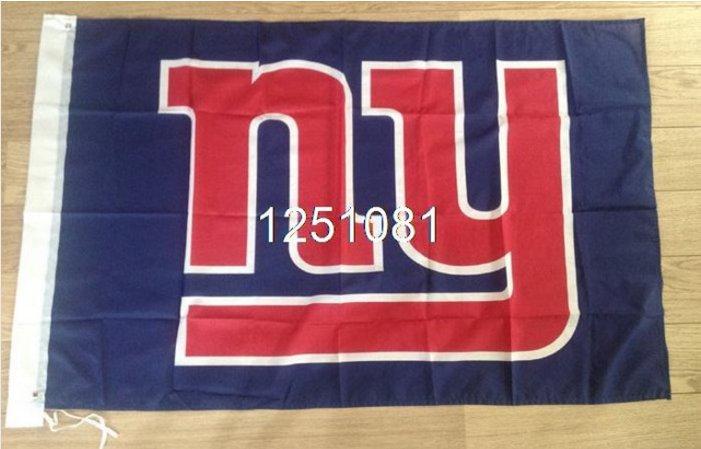 New York Giants banner 100D polyester Flag 3X5ft metal grommets 90x150cm