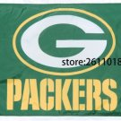 Green Bay Packers logo car flag 12x18inches double sided 100D Polyester NFL