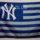 New York Yankees Stripe flag 3ftx5ft Banner 100D Polyester Flag