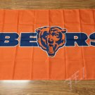 Chicago Bears logo 3FTx5FT Banner 100D Polyester Flag white sleeve with 2 Metal Grommets