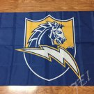 San Diego Chargers car flag 12x18 inches 100D Polyester Double sided with flag style 3