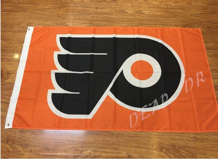 Philadelphia Flyers Flag 3ftx5ft Banner 100D Polyester NHL Flag