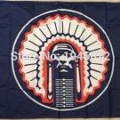 Illinois Fighting Illini Helmet Flag 3ftx5ft Banner 100D Polyester NCAA Flag style 2
