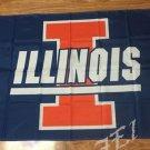 Illinois Fighting Illini Helmet Flag 3ftx5ft Banner 100D Polyester NCAA Flag style 4