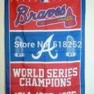 Atlanta Braves champion ship flag 3ftx5ft Banner 100D Polyester Flag metal Grommets 90x150cm
