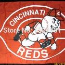 Cincinnati Reds Team Fan Flag 3' x 5' MLB NFL Fan Flag 150X90CM