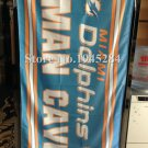 Miami Dolphins man cave flag 3ftx5ft Banner 100D Polyester Flag metal Grommets